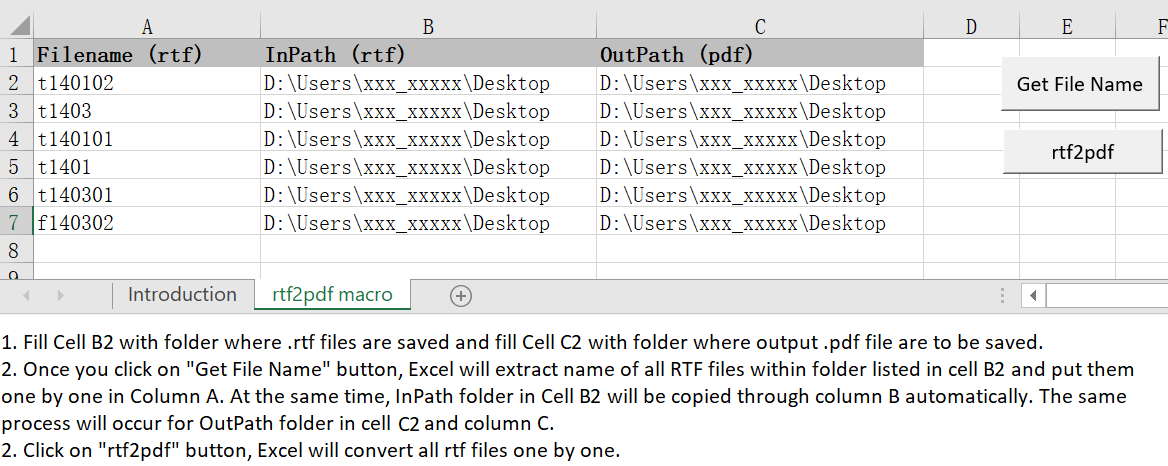 A VBA macro to convert all RTF files within one folder into PDF files